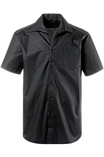 JP 1880 Herren große Größen Hemd, Halbarm, Variokragen, Comfort Fit-Schnitt Schwarz 5XL 705178 10-5XL
