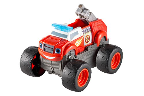 Blaze and the Monster Machines DGK58 - Camión con inscripción en inglés 'Transforming Fire Truck'
