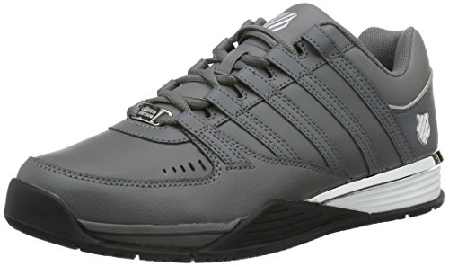 K-Swiss Herren Baxter Low-Top Grau (Charcoal/Silver/Black 086)