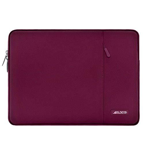 MOSISO Laptophülle Kompatibel mit 13-13,3 Zoll MacBook Air, MacBook Pro, Notebook Computer, Polyester Wasserabweisend Vertikale Stil Sleeve Hülle Schutzhülle Laptoptasche Notebooktasche, Weinrot