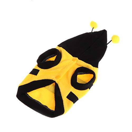 SimpleLife Animali domestici Vestiti Costume da ape Carino caldo con Cappotto di panno morbido Felpa con cappuccio per cucciolo di cane Gatto
