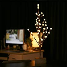 Excelvan LED 0.6M Luz de Árbol del Globo Cristal de Cobre Impermeable, Efecto Estrellado,Decoración de Fiestas