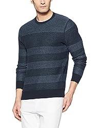 Tommy Hilfiger Mens Cotton Sweater (8907504768776_A7AMS146_XL_Sky Captain)