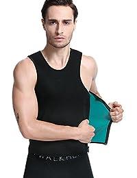 LaLaAreal Hombres Camisetas Termicas de Compresion de Neopreno para Sudaracion Excesiva , Desarrollo Muscular , Adelgazar Rápido con Quema Grasa , Faja Barriga y Abdomen