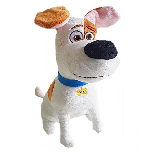 Mascotas (The Secret Life of Pets) - Max, perro blanco con manchas marrones 29cm - Calidad Super Soft