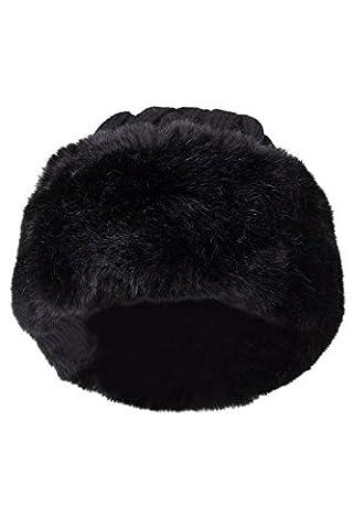Mountain Warehouse Chapeau de fourrure pour femmes Noir Taille