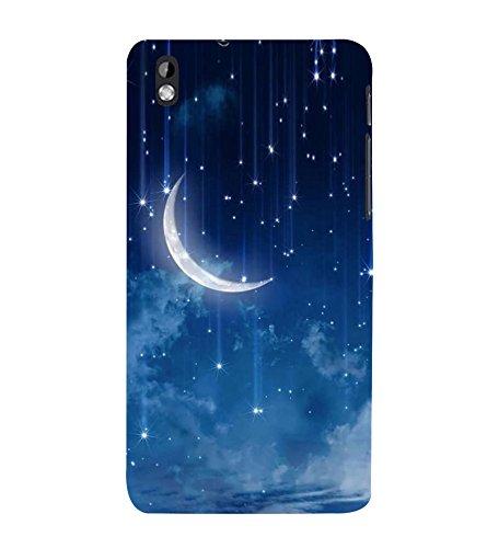 Stars & Moon 3D Hard Polycarbonate Designer Back Case Cover for HTC Desire 816 :: HTC Desire 816 Dual Sim :: HTC Desire 816G Dual Sim