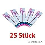 Infigo 25x Klebestreifen Klebepad Kleber Adhesive Sticker Battery Akku für Apple iPhone 5s, SE, 6, 6S, 7, 8 (25 Stück)