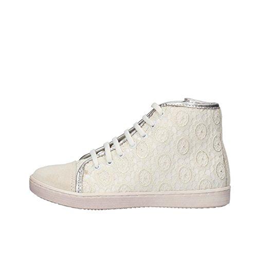 BALDUCCI sneakers bambina 31 EU bianco tessuto camoscio AF365