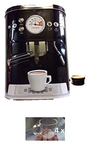 Kaffeedose Blechdose Vorratsdose mit 3D Motiv Kaffeemaschine Aufbewahrungsdose Kaffee Dose schwarz...