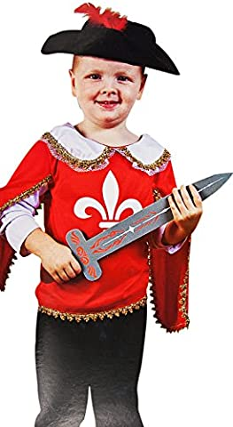 Schönes Ritter Musketier Kostüm für Kinder Karneval