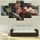5 Stücke Liga Wukong Modulare Bild Moderne Leinwand Druck Typ Einzigartige Wandkunst Dekorative Spiel Poster-100cm(W) x55cm(H)