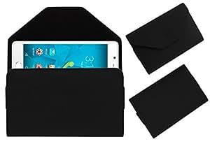Acm Premium Flip Flap Pouch Case For Micromax Canvas Unite 4 Q427 Mobile Leather Cover Magnetic Closure Black