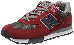 New Balance 574v2, Herren Niedrig, Rot (Red/Grey), 43 EU (9 UK)