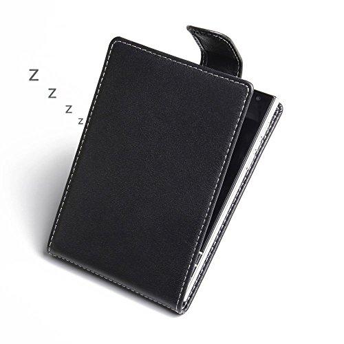 Flip-top-blackberry (PDair BlackBerry Passport Leder Flip Tasche, [Echt Weiches Leder] Folio Magnetverschluss Tasche | Luxus Deluxe Leder Flip Top Hülle für BlackBerry Passport)