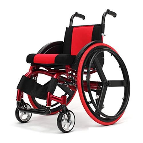Poropz Rollstuhl Leichte Manuelle Ergonomische Ohne Armlehnen, Leicht Zu Bewegen