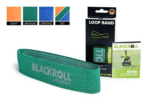 BLACKROLL  Fitnessband Loop Band Trainingsband Gymnastikband Sportband mit mittlerer Dehnbarkeit, grün, One Size, AMLBGN