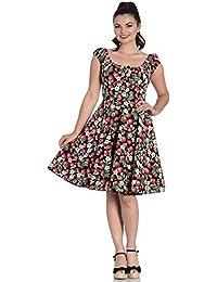 244971 in Erdbeere 36 Damen Kleid mit Alloverdruck