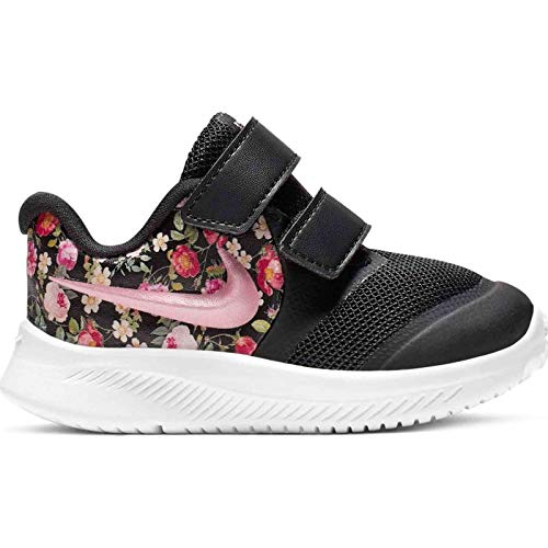 Nike Baby Mädchen Star Runner 2 VF (TDV) Sneaker, Schwarz (Black/Pink Tint-Pale Ivory 001), 26 EU -