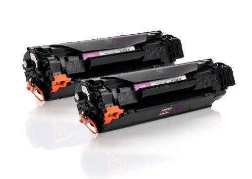 35 Twin Pack (Twin Pack - 2x Toner kaompatibel zu HP 35A CB435A | 2x Schwarz für je 1500 Seiten | ersetzen Toner für HP LaserJet P1005 P1006 P1007 P1008)