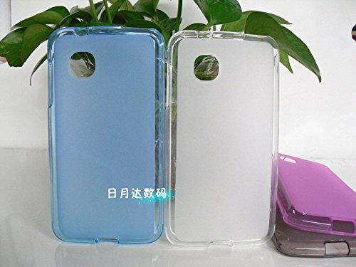 Easbuy TPU Transparent Weiß Tasche Case Etui Cover Hülle für ZTE OPEN C Firefox OS Qualcomm Smartphone