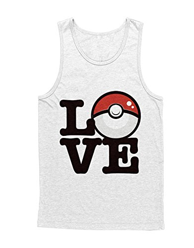 (Tank-Top Pokemon Go Poke Love Pikachu Mousetrap Team Rocket Jessie James Mauzi Kanto 1996 Blue Version Pokeball Catch 'Em All Hype X Y Nintendo Blue Red Yellow Plus Hype Nerd Game C210013 Weiß XXL)
