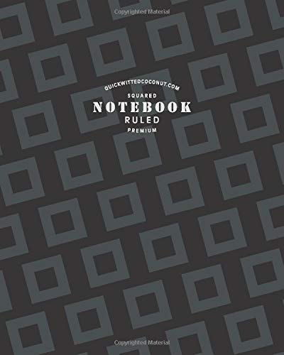 Squared Ruled Premium Notebook: (Office Edition) Fun abstract notebook 192 ruled/lined pages (8x10 inches / 20.3x25.4 cm / Large Jotter)