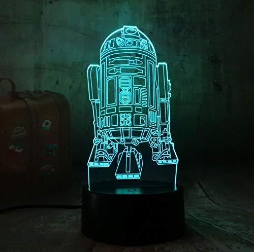 Lampe Led Nachtlicht Star Wars R2D2 Warship 3D Lava Nachtlicht Touch 7 Farbverlauf Licht Rocket Moderne Schlafzimmer Tisch Home Party Dekoration Lampe ()