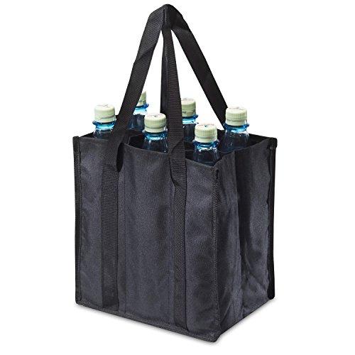 achilles®, Bottle-Bag 6er, ADB06bl, Flaschentasche für 6 Flaschen, schwarz, 25 cm x 17 cm x 27 cm
