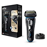 Braun Series 9 9240s Men's Electric Foil Shaver, Wet and Dry, Pop Up Precision Trimmer, Rechargeable and Cordless Razor with Charging Stand and Travel Case - Black/Blue