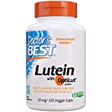 Doctor's Best | Lutein mit Optilut | 10 mg | 120 vegane Kapseln | hochdosiert | bioverfügbare Lutein-Ester und Zeaxanthin | ohne Gentechnik | Glutenfrei | Sojafrei | Ringelblumenextrakt (Tagetes erecta) | Marigold extract