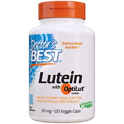 Doctors Best   Esteri di luteina con zeaxantina   10mg   120 capsule vegane   senza glutine   senza soia