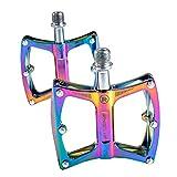 Schildeng Farbe Mountainbike Pedal - Universal Fahrradpedal Ultraleicht Aluminiumlegierung Lager rutschfeste Bunte Pedale Fahrradzubehör