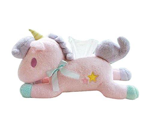 Creative-Plüsch-Puppen Tissue-Boxen Abstellflächen Speicherwürfel (Pink)
