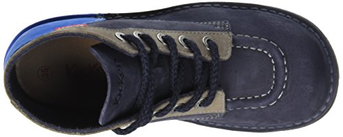 Kickers Unisex-Kinder Col Klassische Stiefel, Knöchelhoch Blau (Marineblau / Blau)