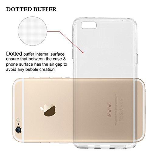 Cellto Premium iPhone 6 Slim Fit Flexible TPU Hülle Tasche Case - 4.7 Inch (Mint) Matte Clear