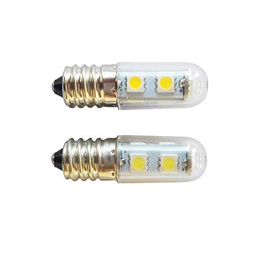 LED-Lampe - E14-Schraube LED-Kühlschranklampe Nähmaschine Lampe 5050 Lampe Perlen 1,5 W Energiesparlampe Transparente Abdeckung 220 V - Blau-Yan (2er Pack) - 2er Pack Glühbirne A19