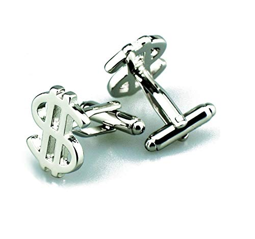 LOUMVE Silber Manschettenknöpfe Hochzeit Herren Personalisiert Us Dollar Manschettenknopf Hochzeit (Dollar 80 Artikel)