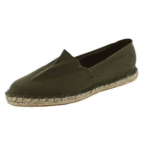 New Mens Casual Espadrilles Canvas Pumps Plims Flat Shoes Sizes UK 6 7 8 9 10 11, Khaki, UK 8