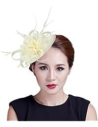 c93a25c97b87f La Vogue Chapeau Bibi Mode Voilette Plume Fleur Cérémonie Mariage Soirée  Femme