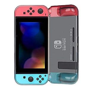 Fintie Grip Hülle für Nintendo Switch – Soft TPU Schutzhülle mit Anti-Kratzern stoßfest ergonomischen Design für optimalen, festen und angenehmen Halt, Schwarz
