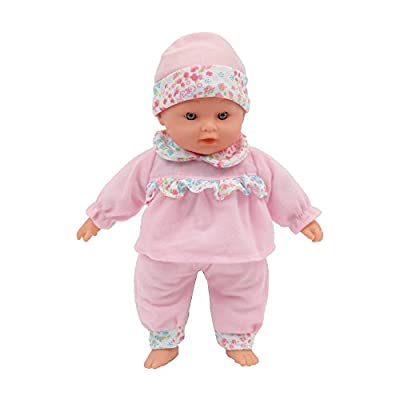 Mamatoy MMA01000 – Mama Mia Sweet Sounds – Soft bodied talking doll, 6 sounds effects, 30 cm (11''), Pink