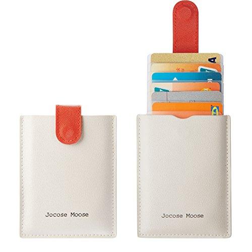 Acerca de Jocose Moose RFID Blocking Leather Carteras de Titular de Tarjeta de Crédito Minimalista   Nuestras billeteras para portatarjetas de cuero no solo se ven bien, también se sienten estupendas de usar.    -100% Cuero Genuino:   Nuestra bill...