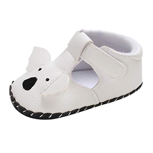 Babyschuhe cinnamou Sommer Sandale mit weichen Sterne Krippe Schuhe Baby Leder Lauflernschuhe Junge Mädchen Kleinkind 0-6 Monate 6-12 Monate 12-18 Monate (6~12 Monate, Weiß-A) (Schwarze Und Weiße-krippe-set)