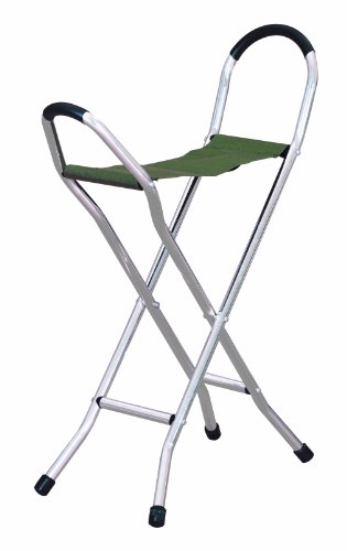 Homecraft - Bastón plegable con asiento mediano