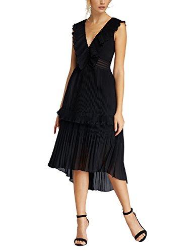APART Fashion Damen Partykleid 66679, Schwarz, 38