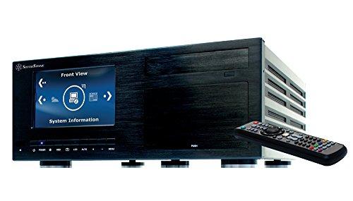"""SilverStone SST-CW03B-MT Crown HTPC ATX Voll-Aluminium-Computer-Gehäuse mit herausragender Kühlleistung, einem integrierten 7"""" Hitachi LCD-Display mit 1920 x 1200 Pixel, Digital-Pen, Fernbedienung mit An/Aus-Funktion und iMON Media Center Software, schwarz"""