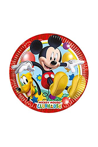 Procos Playful Mickey Mouse 8 Teller Kindergeburstag