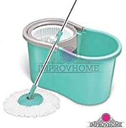 Improvhome 360 Spin Mop Bucket with Plastic Basket Wheel to Easy Moving (Color May Vary)
