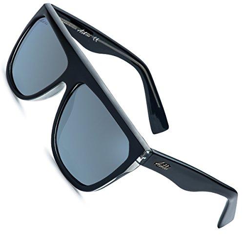 191836ad4c8 Aiblii Women s Fashion Flat Polarised Sunglasses UV400 Retro Vintage Shades  for Women Men